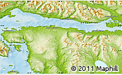 """Physical Map of the area around 54°56'24""""S,67°55'30""""W"""