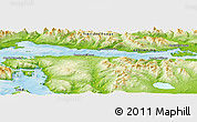 """Physical Panoramic Map of the area around 54°56'24""""S,67°55'30""""W"""