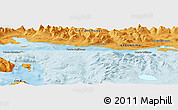 """Political Panoramic Map of the area around 54°56'24""""S,67°55'30""""W"""