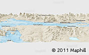"""Shaded Relief Panoramic Map of the area around 54°56'24""""S,67°55'30""""W"""