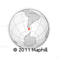 Outline Map of Alemania Glacier, rectangular outline
