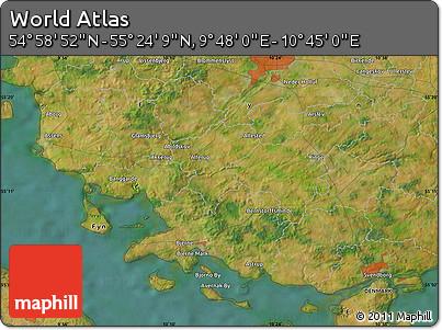 "Satellite Map of the Area around 55°11'31""N,10°16'30""E"