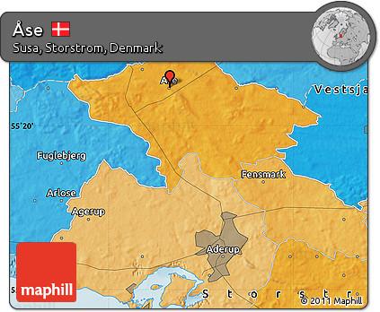 Political Map of Åse