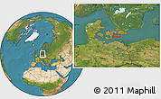 Satellite Location Map of Elmelunde