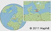 Savanna Style Location Map of Elmelunde