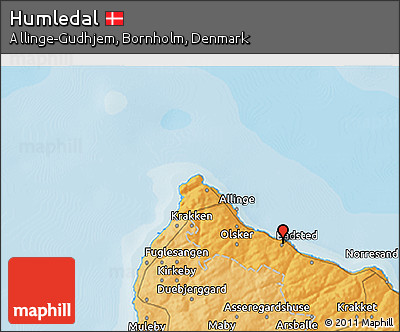 Political 3D Map of Humledal