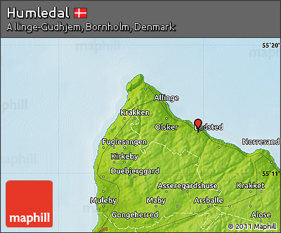 Physical Map of Humledal