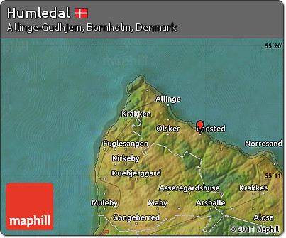 Satellite Map of Humledal