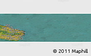 Satellite Panoramic Map of Lyrsby