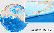 """Shaded Relief Location Map of the area around 55°11'31""""N,161°25'30""""W"""