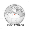 """Outline Map of the Area around 55° 11' 31"""" N, 161° 25' 30"""" W, rectangular outline"""