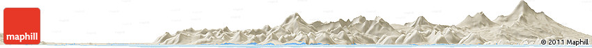 """Shaded Relief Horizon Map of the Area around 55° 11' 31"""" N, 162° 16' 30"""" W"""