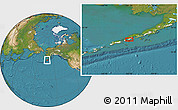 """Satellite Location Map of the area around 55°11'31""""N,162°16'30""""W"""