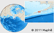 """Shaded Relief Location Map of the area around 55°11'31""""N,162°16'30""""W"""