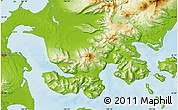"""Physical Map of the area around 55°11'31""""N,162°16'30""""W"""