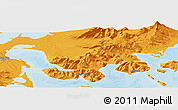 Political Panoramic Map of King Cove