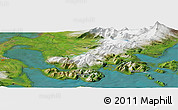Satellite Panoramic Map of King Cove