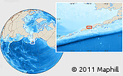"""Shaded Relief Location Map of the area around 55°11'31""""N,163°7'30""""W"""