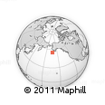 """Outline Map of the Area around 55° 11' 31"""" N, 163° 7' 30"""" W, rectangular outline"""