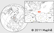"""Blank Location Map of the area around 55°11'31""""N,16°13'30""""E"""