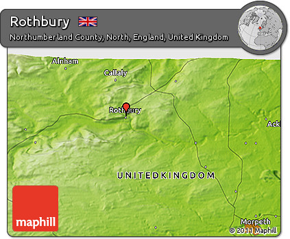 Free Physical 3D Map of Rothbury