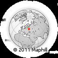 Outline Map of Yartsevo, rectangular outline