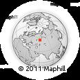 Outline Map of Chelyabinsk, rectangular outline