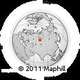 Outline Map of Omsk, rectangular outline