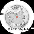 Outline Map of Novosibirsk, rectangular outline