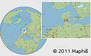 "Savanna Style Location Map of the area around 55°11'31""N,9°25'30""E"