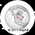 Outline Map of Missinipe, rectangular outline
