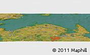 Satellite Panoramic Map of Odense