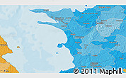 Political 3D Map of Bovense