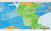 Political 3D Map of Vindinge