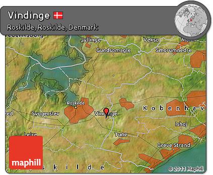 Satellite Map of Vindinge