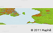 "Physical Panoramic Map of the area around 55° 34' 4"" N, 12° 49' 29"" E"