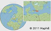 "Savanna Style Location Map of the area around 55°34'4""N,13°40'30""E"