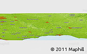 """Physical Panoramic Map of the area around 55°34'4""""N,13°40'30""""E"""