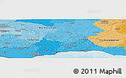 """Political Panoramic Map of the area around 55°34'4""""N,13°40'30""""E"""