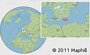 "Savanna Style Location Map of the area around 55°34'4""N,15°22'30""E"