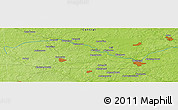 """Physical Panoramic Map of the area around 55°34'4""""N,35°46'29""""E"""