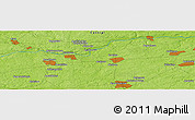 Physical Panoramic Map of Goloven'ka