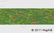 Satellite Panoramic Map of Goloven'ka