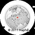 Outline Map of Kazan', rectangular outline