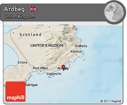 3d Relief Map Of Uk.Free Shaded Relief 3d Map Of Ardbeg