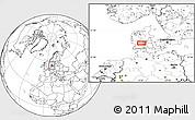 Blank Location Map of Vejle