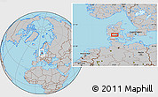 Gray Location Map of Vejle
