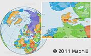 Political Location Map of Vejle