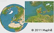Satellite Location Map of Vejle