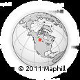 Outline Map of Saskatchewan 918, rectangular outline